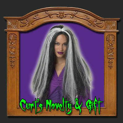 SILVER STREAKED WIG VAMPIRESS GOTHIC Costume Haunted - Vampiress Wigs