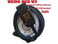 VCDS HEX V2 INTERFACE VAG COM 18.9 HEX+CAN FITS VW AUDI SKODA SEAT ENGLISH for sale  West Molesey, Surrey