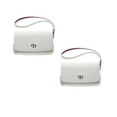 Genuine BlackBerry White/Pink Leather Folio Wallet Case BlackBerry 9320 9220 NEW Blackberry Leather Folio Case