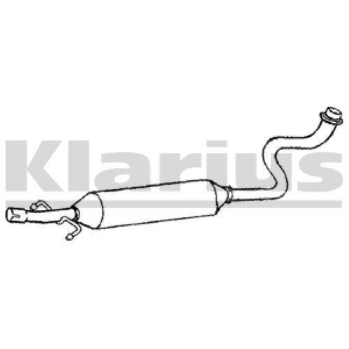 1x KLARIUS OE Quality Replacement Middle Silencer Exhaust For TOYOTA Petrol