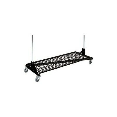 Only Hangers Bottom Shelf For Rolling Z Rack Black Color