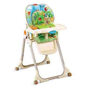 high chair with toy