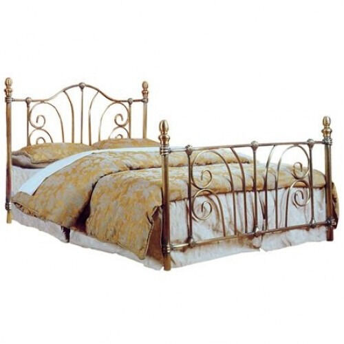 classy, double, brass, gold colour, metal bed, frame, new, with ...