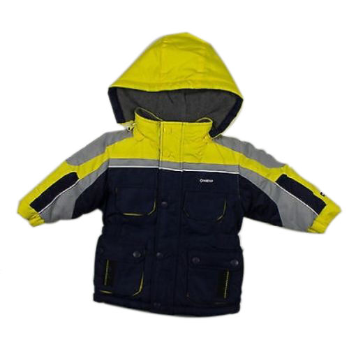 OshKosh Infant Boys Navy-Gray and Yellow Parka Outerwear Coat