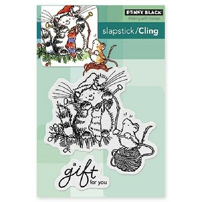 PENNY BLACK RUBBER STAMPS SLAPSTICK CLING A GIFT FOR YOU STAMP