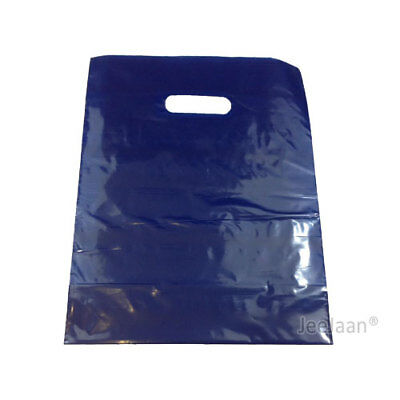 100 Navy Blue Plastic Carrier Bags 15