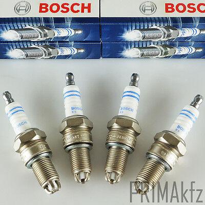 4X BOSCH 0242235664 Zündkerzen Super Plus WR7LTC+ Audi A80 100 A6 VW Golf Polo