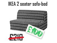 2 seater IKEA SofaBed, almost new, barely used