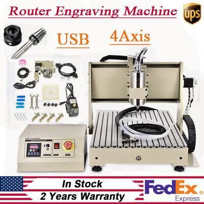Usb 4 Axis Cnc 6040 Router Engraver Machine 1500w Engraving Drilling Pcb Diy Kit