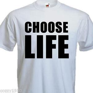 Choose Life Wham Retro 80s T-Shirt Fancy Dress, 6 size S ...