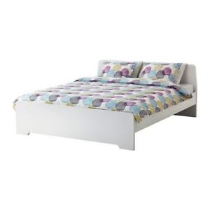 Used Ikea Askvoll Queen Size Bed Frame