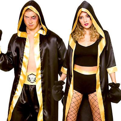 Boxer Adults Fancy Dress Sports Knockout Champion Wrestler Fighter Costumes New - Sport Fancy Dress Kostüm