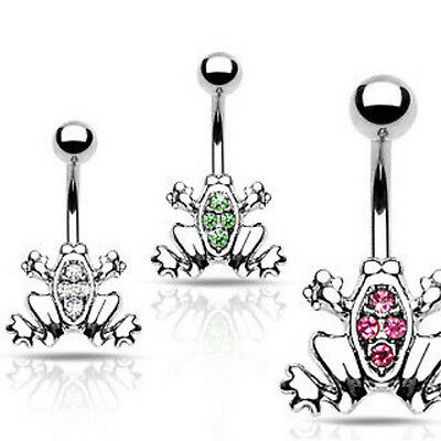B#41 - 12pcs Frog Gem Belly Rings Navel naval wholesale
