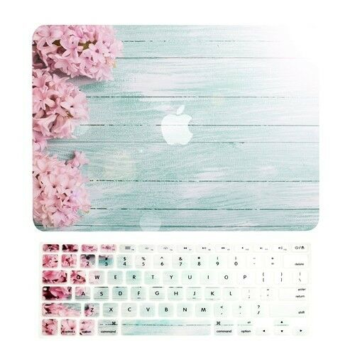 Pink Hyacinth Matte Case + Keyboard Cover For Macbook Air...