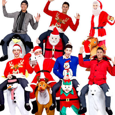 Carry Me Christmas + Santa Hat Adults Fancy Dress Novelty Festive Mens Costumes ](Fancy Me Costumes)