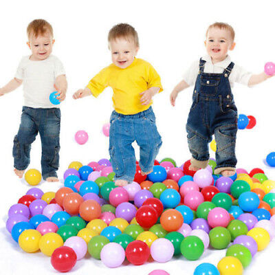 100pcs Quality Secure Baby Kid Pit Toy Swim Fun Colorful Soft Plastic Ocean - Pit Ball