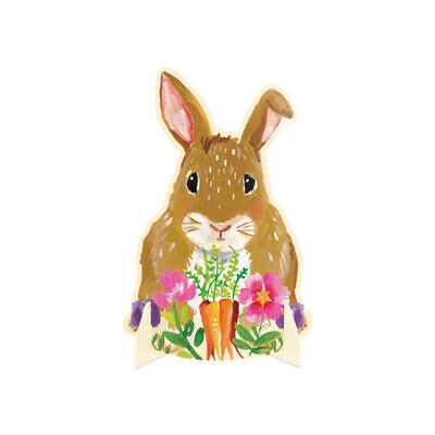 EASTER Floral Bunny STAND-UP CENTERPIECE ~ Birthday Party Supplies Decoration - Easter Party Supplies