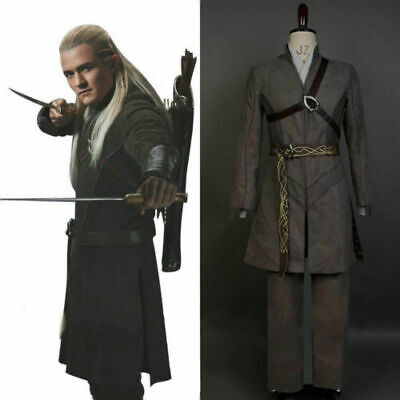 Lord of the Rings Hobbit Elf Prince Legolas Greenleaf Outfit COSplay Costume