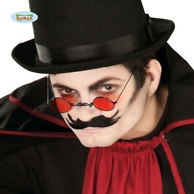 OCCHIALI DA VAMPIRO CON LENTE ROSSA Carnevale travestimenti halloween feste19523 (Kostüm Da Vampiro)
