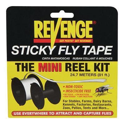 Bonide 46130 Revenge Sticky Fly Tape Mini Reel Kit, 81