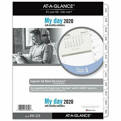 At-a-glance 2020 Daily Planner Refill Day Runner 8-12 X 11 Folio Size 5 T