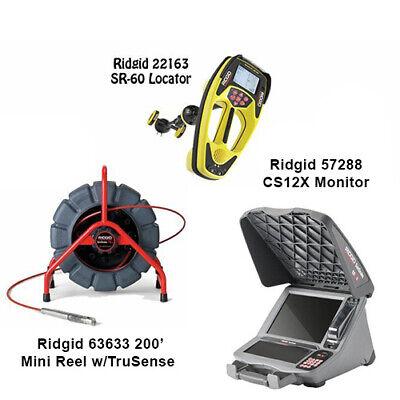 Ridgid 200 Mini Reel Wts 63633 Seektech Sr-60 Locator 22163 Cs12x 57288