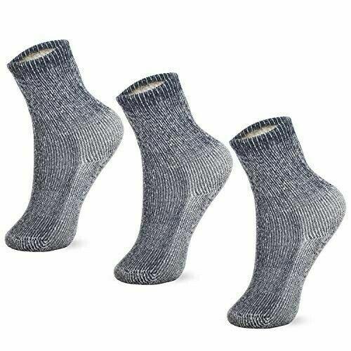 MERIWOOL Kids 3 Pairs Merino Wool Blend Socks - Choose Your Size & Color
