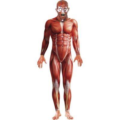 Halloween Herren Kostüm Anatomischer Mann Körper gruselig