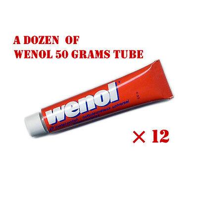 Red Wenol Metal Polish Cleaner  / 50 grams tubes x 12pcs. (1 dozen)