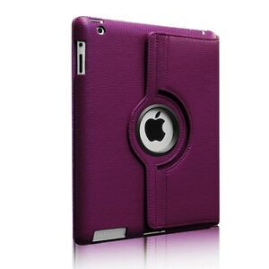 Classic Rotating Case for iPad 4/3/2 - Purple BRAND NEW!!
