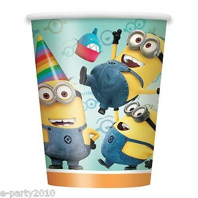 DESPICABLE ME 2 9oz PAPER CUPS (8) ~ Birthday Party Supplies Minions Beverage ()