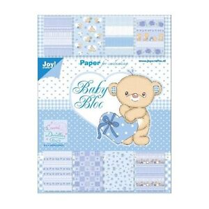 Motivpapier-Set / Scrapbook - Baby Motive in Blautönen - DIN A5 - 32 Bögen