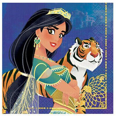 ALADDIN Princess Jasmine Birthday Party lunch dinner PAPER NAPKINS 16pcs 2-ply
