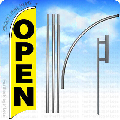 Open - Windless Swooper Feather Banner Sign Flag 15 Kit Yb