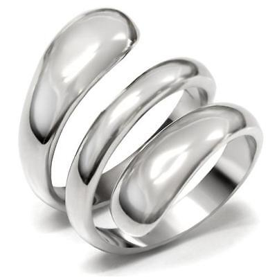 Journey Pull - Stainless Steel Wrap Spiral Twist Wide Band Goth Eternity Journey Goth Emo Ring