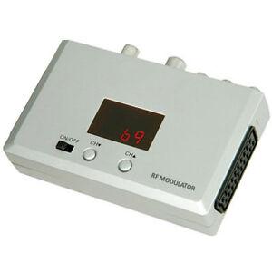 RF MODULATOR - CONVERT SCART PHONO TO TV AERIAL RF COAX