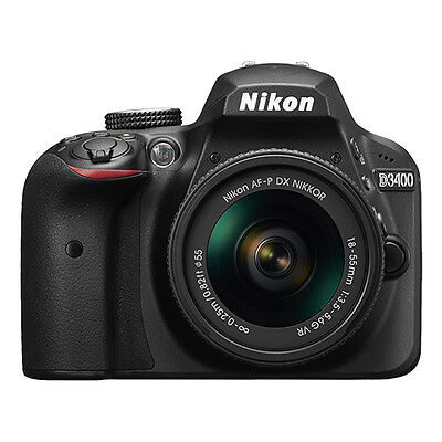 Купить Nikon D3400 - Nikon D3400 24.2 MP Digital SLR Camera with 18-55mm AF-P DX f/3.5-5.6G VR Lens
