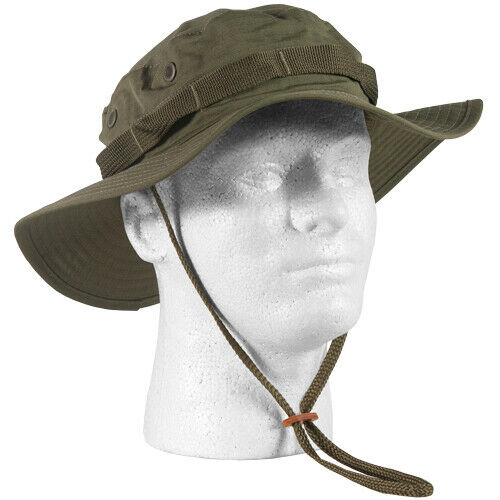 OD GREEN VIETNAM MILITARY TYPE II JUNGLE BOONIE HAT REPRODUCTION LARGE 7 1/2