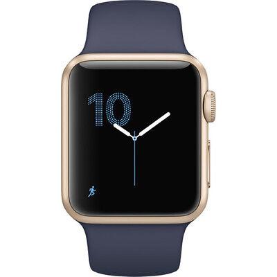 New Apple Watch Series 1 38Mm Gold Aluminum Case Midnight Blue Sport Band