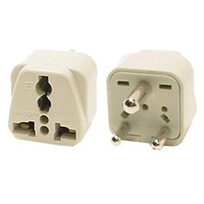 Travel Universal Plug Adapter Type D for India, Africa - 2 Pack (Grounded)