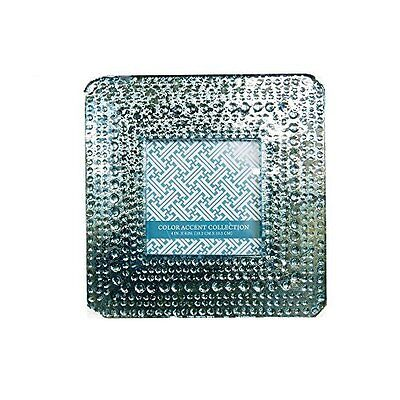 Fused Glass Picture Frame Turquoise Silvered Textured Distre