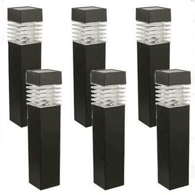 Landscape Light Set - 6 Pack Set Low Voltage LED Square Bollard Path Light Landscape Industrial Lamp