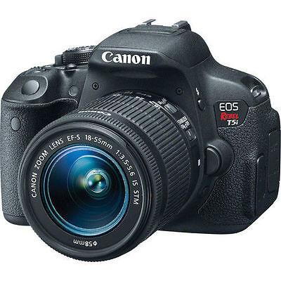 Canon EOS Rebel T5i CMOS Digital SLR w/ 18-55mm EF-S IS STM Lens 8595B003