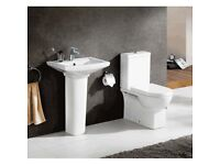 Modern basin and toilet package was £194 now £179