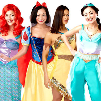 Disney Princess Ladies Fancy Dress Fairy Tale Book Day Womens Ladies Costume New