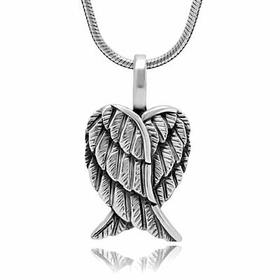 Angel Wing Remembrance .925 Sterling Silver Pendant Necklace