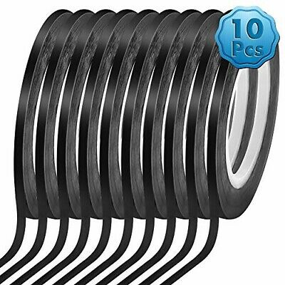 18 10 Pack Black Matte Tape Whiteboard Grid Tape Model Art Tape Chart Tape