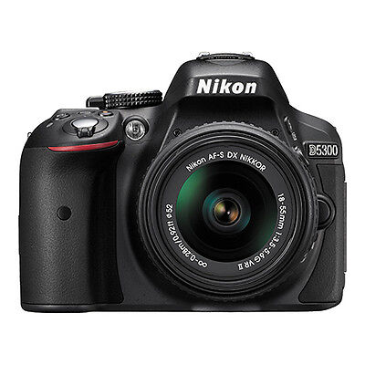 Купить Nikon - Nikon D5300 24.2 MP Digital SLR Camera with 18-55mm VR AF-P DX Lens (Black)