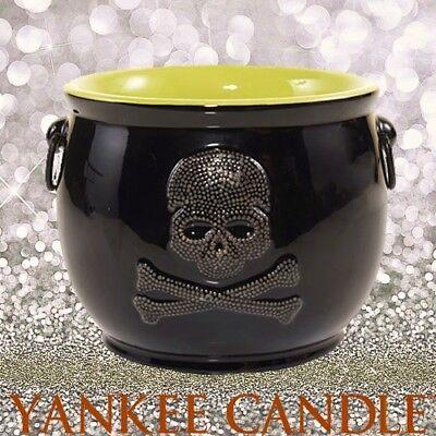 Yankee Candle RAVEN NIGHT SKULL CAULDRON Jar Holder Halloween NEW