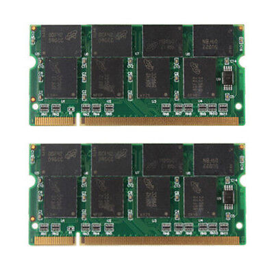 2GB PC2100 DDR LAPTOP MEMORY 266mhz SODIMM RAM sdram 200pin NOTEBOOK =  2 x 1gb
